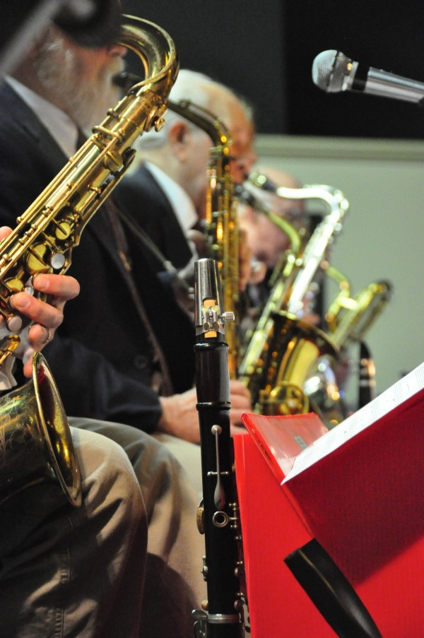 Sentimental Journey band members play at a dance in the Bangor area.