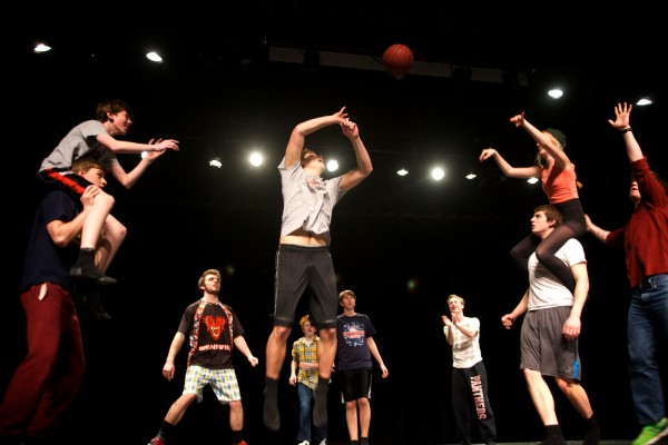 The Jets rehearse a dance number for &quotWest Side Story&quot at Brunswick High School on Thursday. A handful of varsity athletes — mainly basketball and lacrosse players — have joined the production.