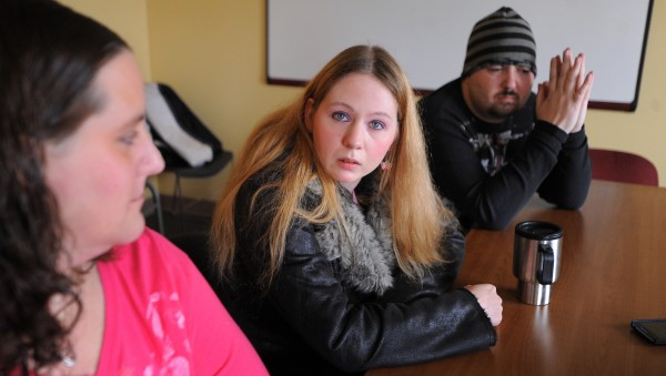 At the end of 2013, hundreds of recovering drug addicts lost their MaineCare coverage, in many cases limiting or ending their ability to get methadone treatment. From left, Lindey Saunders, 35, of Ellsworth; Brandi Harriman, 28, of Glenburn and Jacob Vanadestine, 33, Palmyra talked about what losing the coverage means to them.