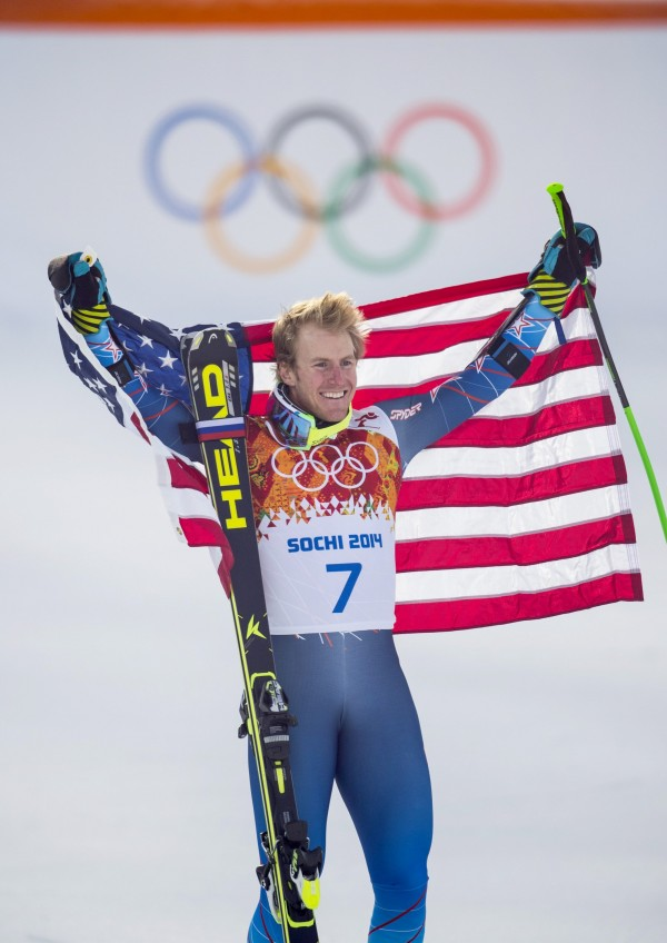 USA's Ted Ligety wins gold medal in the men's giant slalom during the Winter Olympic Games in Krasnaya Polyana, Russia, on Wednesday, Feb. 19, 2014.