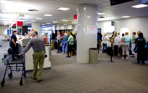 A September 2013 file photo of the inside of Bangor International Airport.