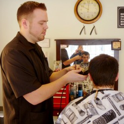 The attention is to the details at downtown Bangor barber shop