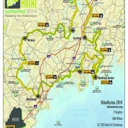Free BikeMaine event calendar available at local bicycle shops