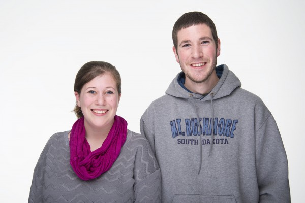 Emily and Jared Duggan are siblings who, while enrolled at the University of Maine, are volunteering in the Black Bear Mentor program.