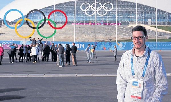 Brandon Gassett, a 2009 graduate of the New England School of Communications, worked for EVS during the 22nd Winter Olympic Games recently held in Sochi, Russia. He helped supply NBC and its broadcast affiliates with televised sports coverage.