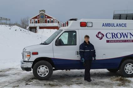 Susan Busse, a paramedic for Crown Emergency Care, will be among the team members from TAMC, Crown and the University of Maine at Presque Isle that will be providing a variety of medical services for athletes and spectators during the 2014 IBU Youth/Junior Biathlon World Championships.