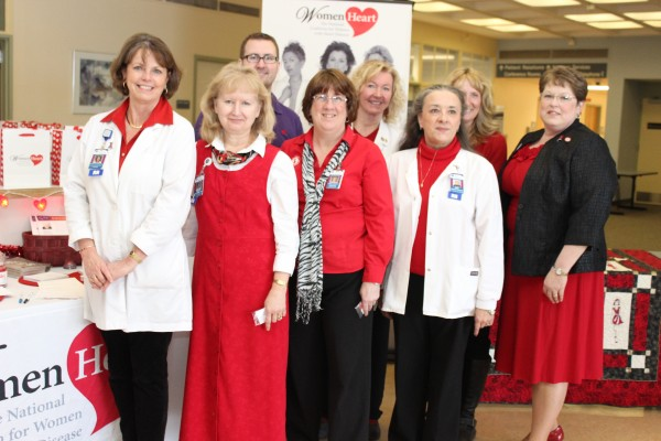 Staff from EMMC's Heart Care show off their red at last year's Wear Red Day event at Eastern Maine Medical Center.