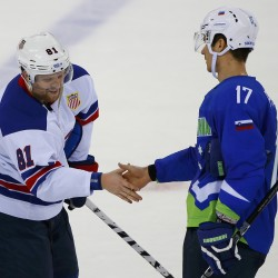 US men's hockey team defeats Slovakia with 7-1 victory