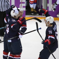 Olympic hockey: Kessel hat-trick powers US to win over Slovenia
