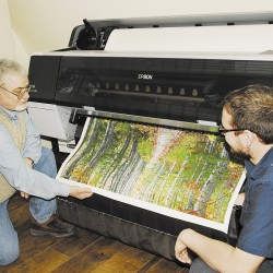 Modern-day printing company thrives using 19th-century press