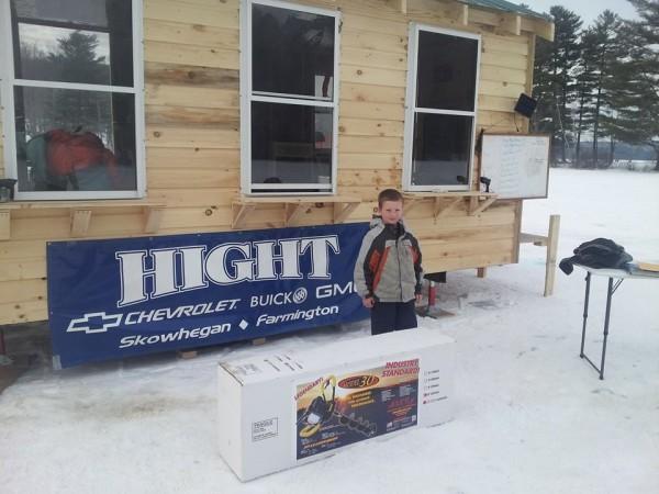 Bryce Hayden, age 7, Winner of Auger Door Prize