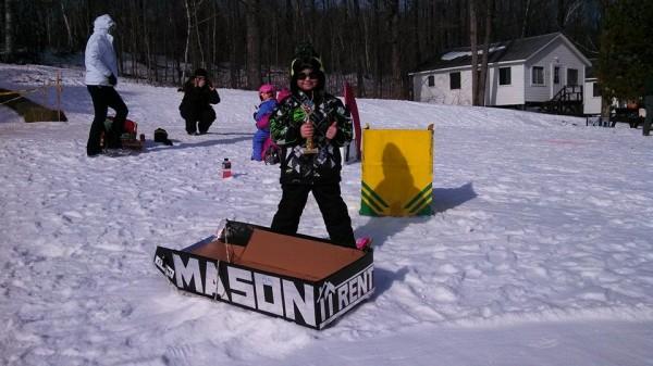 Mason Blodgett Sled Box Longest Run