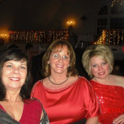 Pictured are some Calais Lioness Club members enjoying last years Red Dress Event.