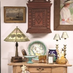 A selection of items to be sold at Thomaston Place Auction Galleries' special auction featuring a Kennebunkport antique dealer estate on March 29 & 30