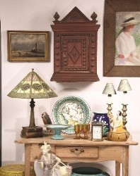 Sampling of items to be sold at Thomaston Place Auction Galleries' special auction featuring a Kennebunkport antique dealer estate on March 29 & 30