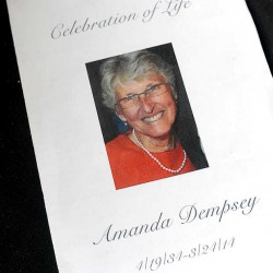Patrick Dempsey's mother, Amanda Dempsey, died on March 24.
