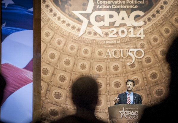 Louisiana Republican Gov. Bobby Jindal speaks at the 2014 Conservative Political Action Conference at the Gaylord Resort in Oxon Hill, Md. This year is the American Conservative Union's 50th anniversary and the theme is &quotGetting it Right for 50 Years.&quot