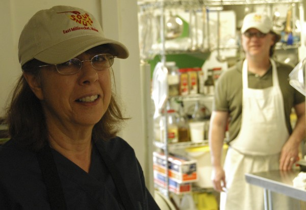 The recent decision by Paul and Barbara Van Loon, seen here in May 2010, to close their Soup to Nuts restaurant on Main Street in East Millinocket was among the factors that forced building owner Clint Linscott to raze The Hamlet building.