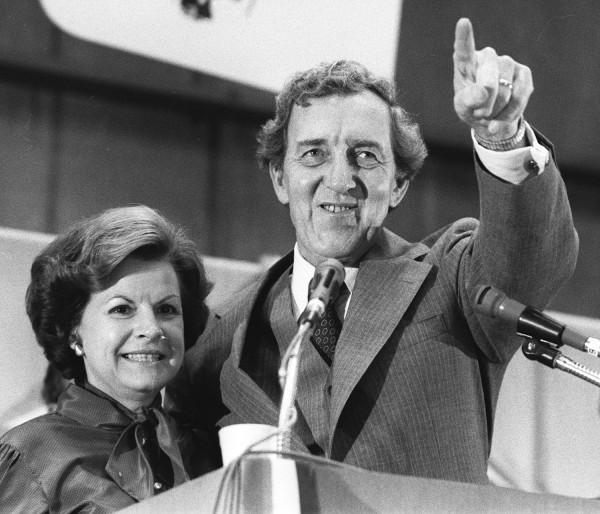 Edmund Muskie and wife Jane