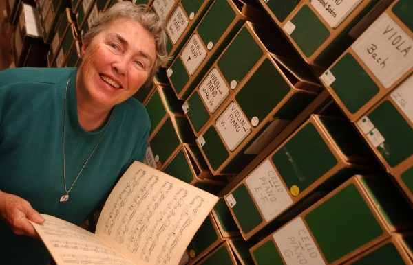 Mary Cheney Gould, 79, of Blue Hill, shown in 2003, helped found the Bagaduce Music Lending Library.