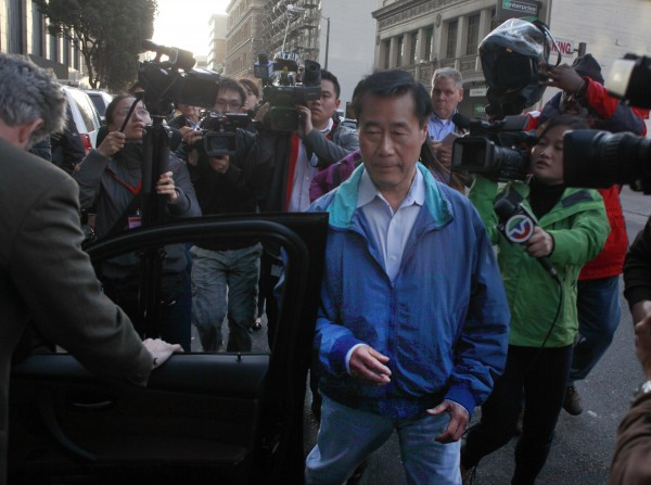 State Sen. Leland Yee (D-San Francisco) leaves Federal Court in San Francisco, Calif., on Wednesday, March 26, 2014. Yee has been charged with public corruption as part of an FBI operation spanning the Bay Area. Yee posted $500,000 bail following his arrest on federal weapons charges.