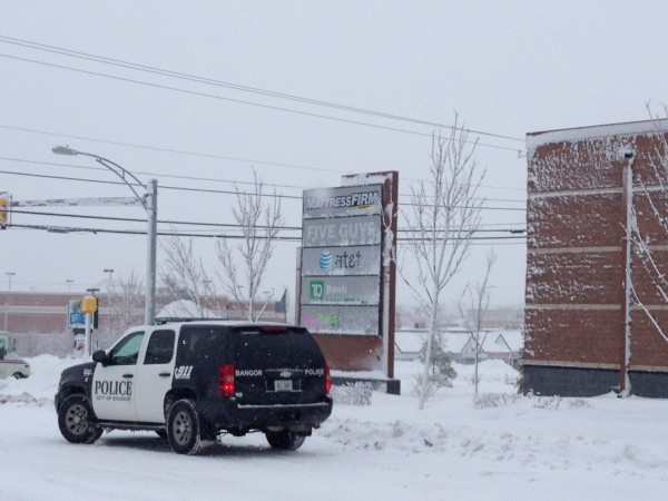 A body reportedly was found in a snowbank along Stillwater Avenue in Bangor on Thursday morning.