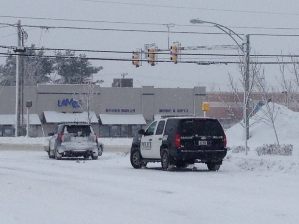 Police went to Stillwater Avenue in Bangor on Thursday morning after a body reportedly was found in a snowbank.