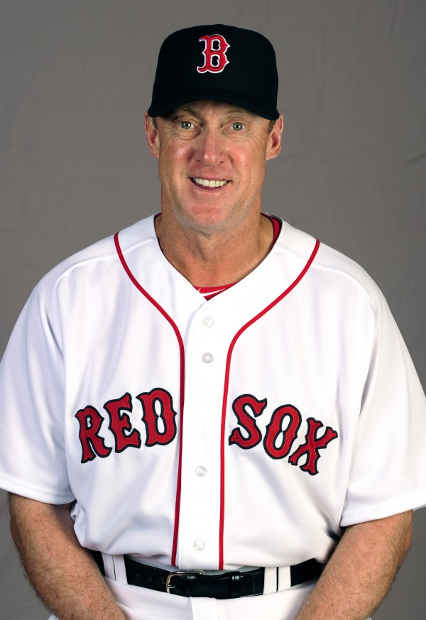 Boston Red Sox third base coach Brian Butterfield poses during photo day Feb. 23 at JetBlue Park in Fort Myers, Fla.