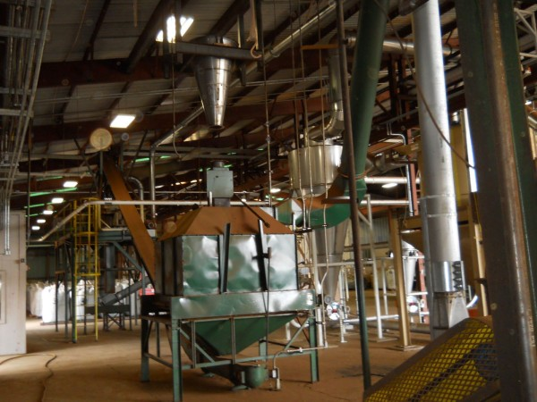 The interior of the pellet manufacturing facility in Crockett, Texas, whose owner, Zilkha Biomass Energy, will provide the technology for a proposed pellet facility in Millinocket.