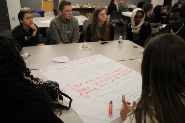 Past and future Seeds of Peace campers discussed challenges that students with disabilities face in Maine schools. More than 50 students gathered to come up with ways to improve the education system in the state of Maine.