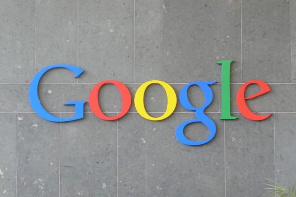 Google's logo in Dublin, Ireland.