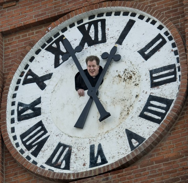 A church clock is adjusted for daylight saving time in Washington. A recent study finds the loss of an hour of sleep from moving the clock ahead results in more heart attacks.