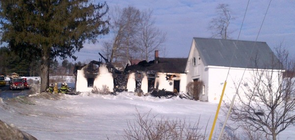 A home in York County was destroyed by fire on Monday morning and a woman was found dead.