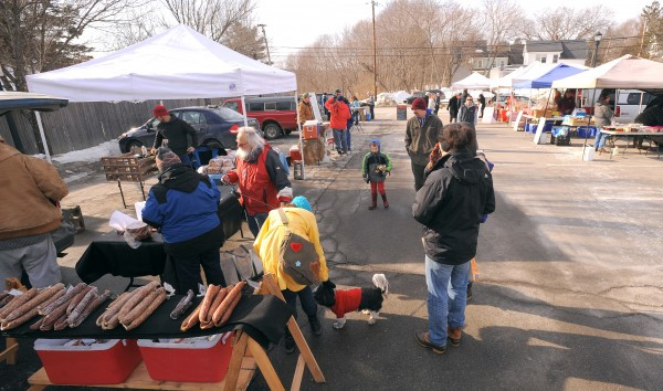 The Orono Winter Farmers' Market is shown on Saturday.