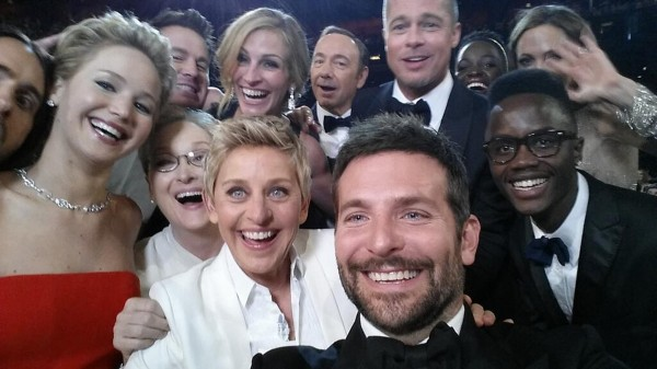 The &quotselfie&quot tweeted by Oscars show host Ellen DeGeneres quickly became the most shared photo ever on Twitter.