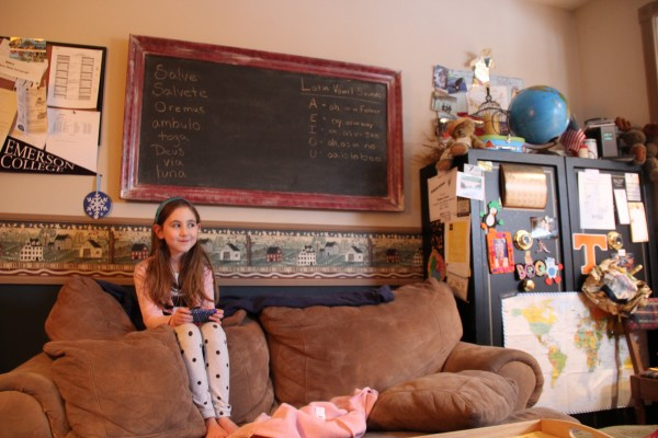 Emma Linscott is home-schooled by her mother, Amy, who has worked hard to bring a virtual charter school to Maine.