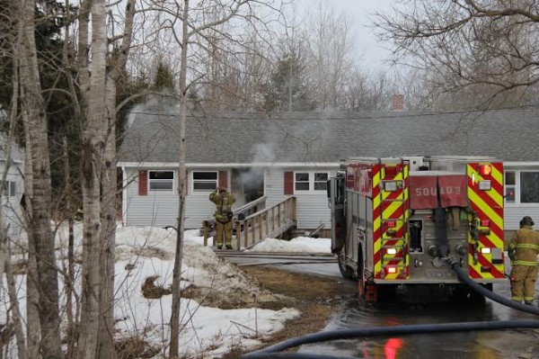 Rockland crews fought a fire Tuesday afternoon at a Pleasant Street home