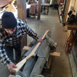 Orono's Civil War soldier has his musket back, work begins on ornate pedestal, artist says
