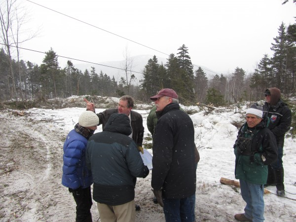 Members of the Camden Planning Board went to the summit of Ragged  Mountain to see first hand what work will be done for the upgrade of the Camden Snow Bowl.