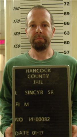 Mark Sincyr, 40, of Eastbrook. Ellsworth police are looking for Sincyr, who they say led them on an eight-mile foot chase through the woods last night after they interrupted an alleged burglary on Route 1A.