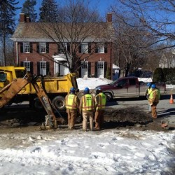 Water main break on Broadway slows traffic