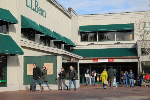 L.L. Bean's flagship store in Freeport in December.