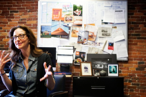 Susan Grisanti, editor-in-chief of Maine magazine, talks about her company's newest venture called Old Port magazine on Wednesday in Portland. The quarterly publication will hit the streets in June and will focus solely on Portland's peninsula.