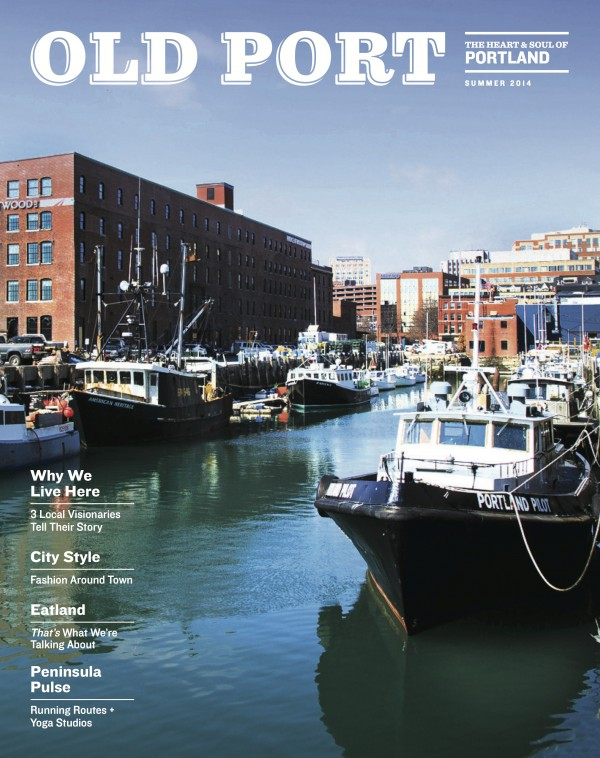 A cover image of the Old Port magazine.