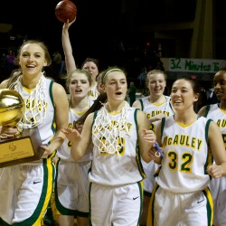 Height advantage, experience carry McAuley to second straight title