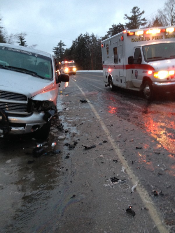 A Robbinston teenager and her older brother were injured Sunday morning when she lost control of her car on a slick stretch of highway and was involved in a head-on collision with his truck, family members reported.