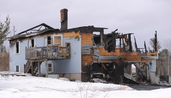 This home at 85 McIntosh Avenue in Levant burned Sunday night.