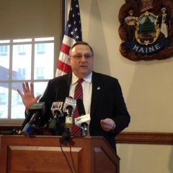 Audience reacts to LePage's tough tone at Portland town hall