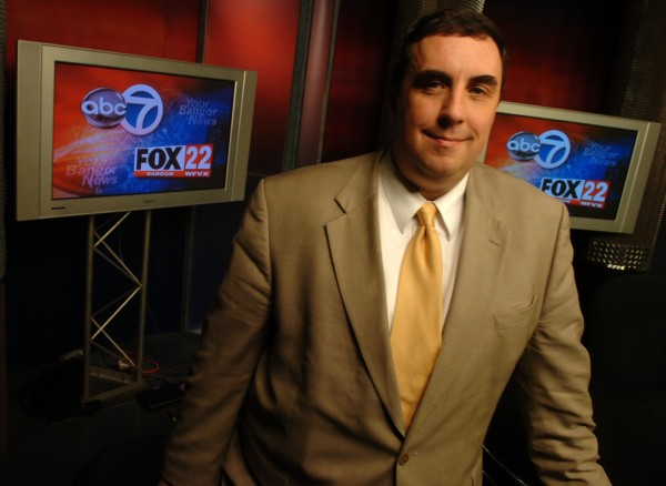 Michael Palmer, general manager of WVII, ABC 7 and Fox 22, pictured on the station's set.