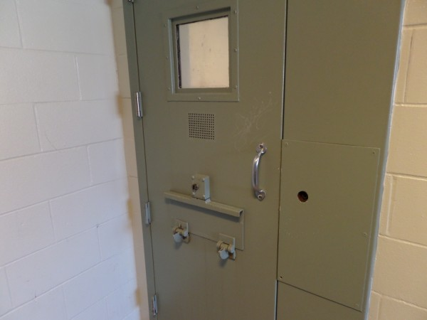Images released by the Cumberland County Sheriff's Office on Monday show a cell door in the county jail's maximum security section both closed and ajar.